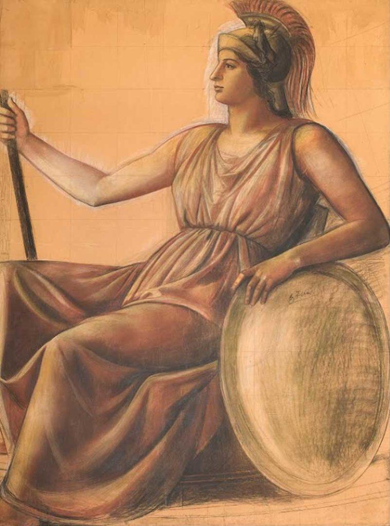 Minerva por Achille Funi