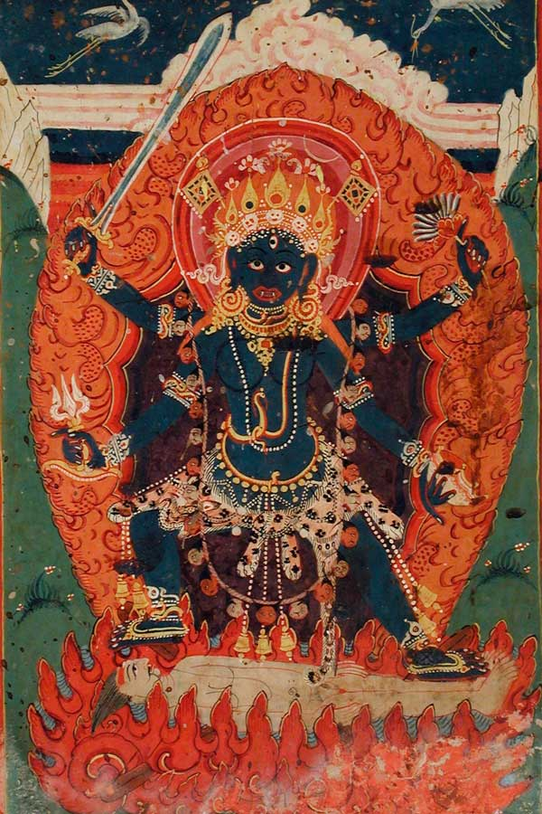 The Hindu Goddess Ugratara (Violent Tara)