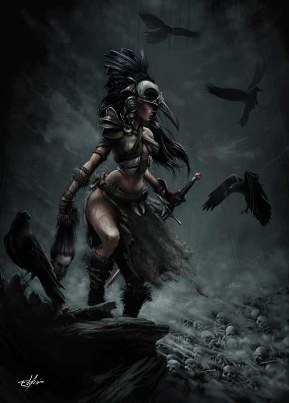 Deusa Morrigan por Simbelmyne-9 no Deviant Art