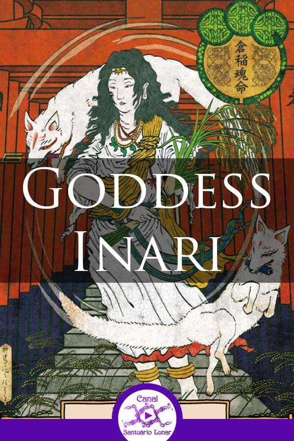 Goddess Inari - Shinto Goddess of Agriculture and prosperity