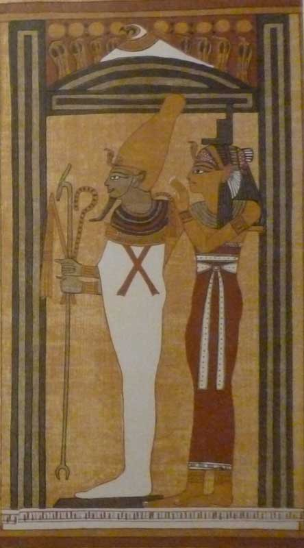 Goddess Isis and God Osiris - Papyrus of Ani