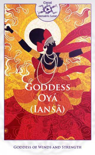 Goddess Oyá (Iansã) Goddess of Winds and Strength (Pinterest)