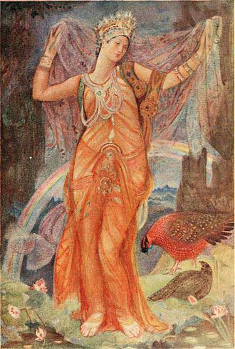 Inanna/Ishtar's descent from Lewis Spence's Myths and Legends of Babylonia and Assyria 1916