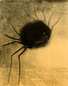 Simple Protection Spells - Art: Odilon Redon Siling Spider