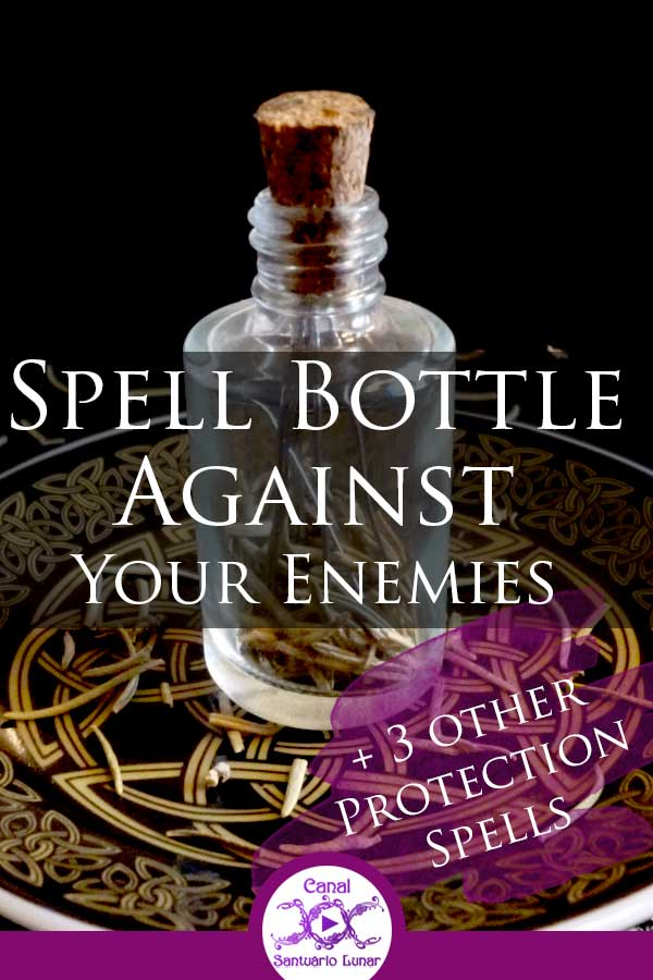 Protection Spell Bottle Against Your Enemies