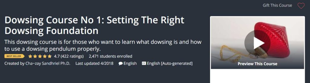 Udemy - Dowsing Course 1