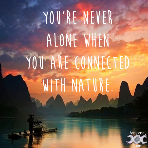 Nature is my church - 17 You're never alone when you're connected with nature