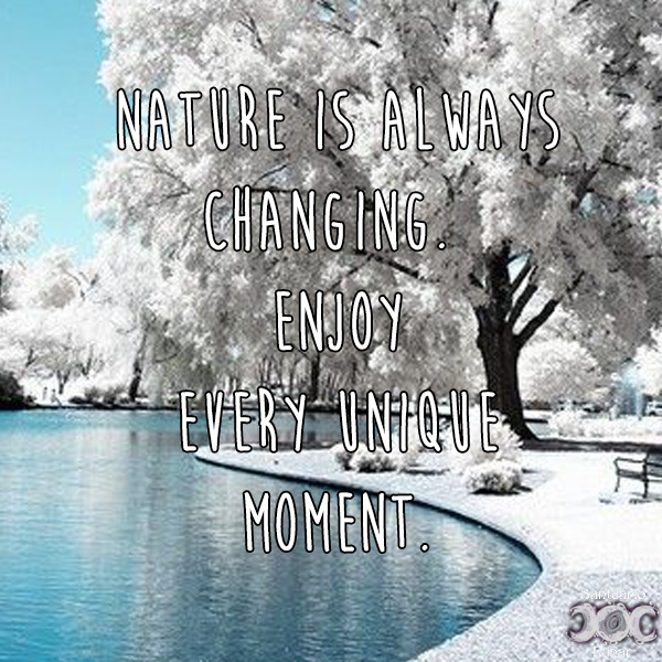 Nature is my church - 20 Nature is always changing Enjoy every unique moment
