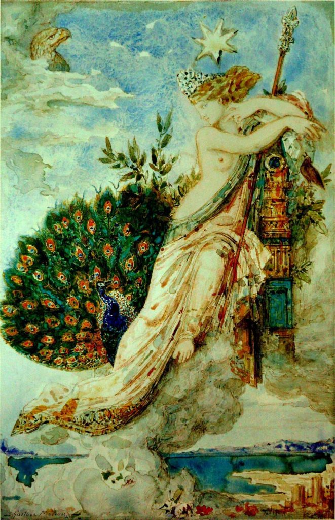 The Peacock Complaining to Juno by Gustave Moreau 1881