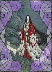 Goddess Inari - Illustrated by Dreoilin