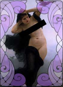 Nyx - Goddess of the Night - painting by Henri Pierre Picou (censored)