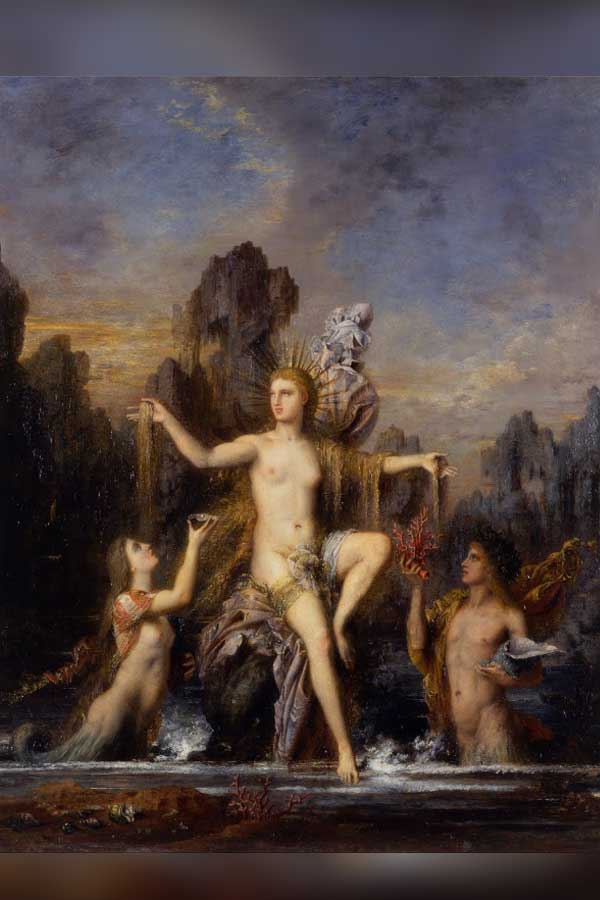 Venus Rising from the Sea - Gustave Moreau 1866