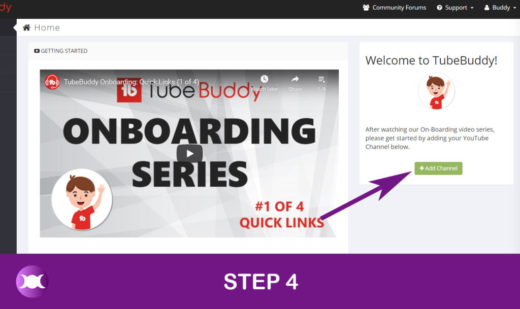 How to install TubeBuddy - Step 4