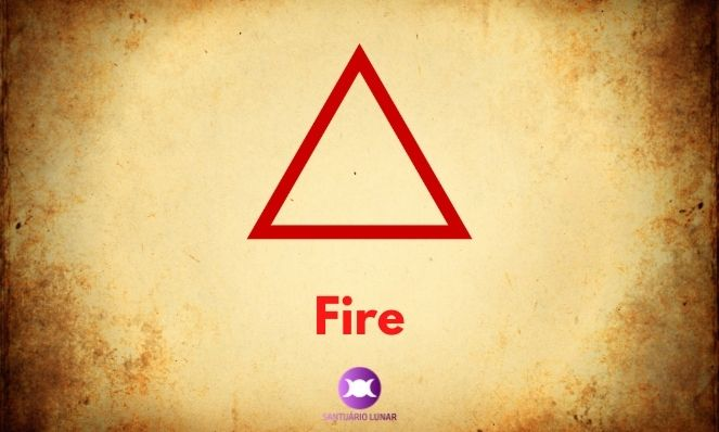 Fire is a triangle facing upwards