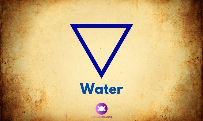 Water is a triangle facing downwards
