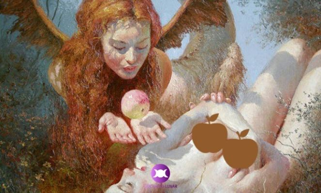 Lilith and Eve painting by Yuri Klapouh (censored)