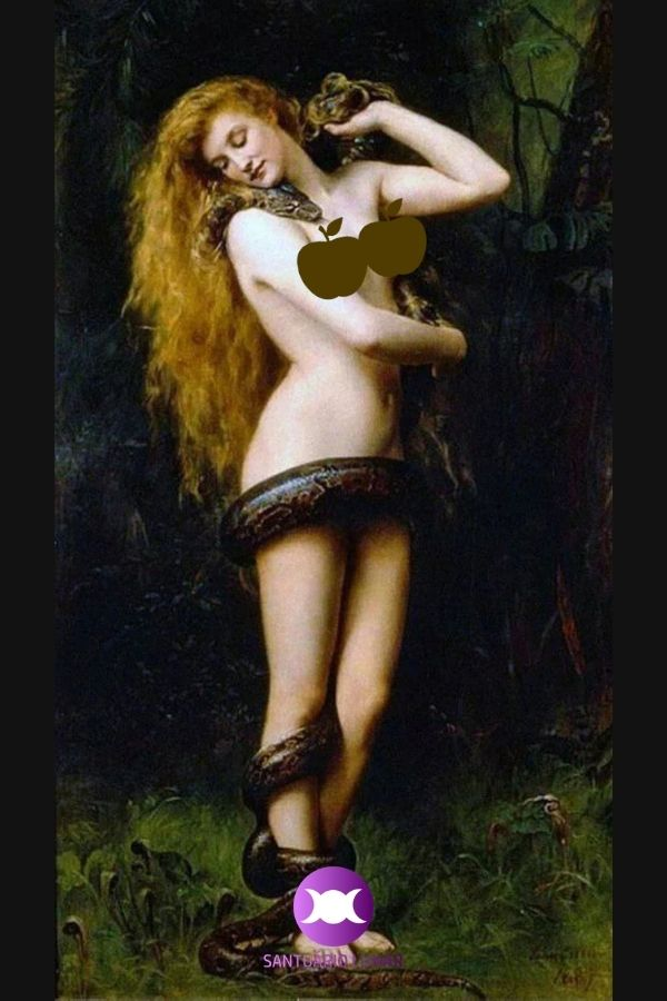 Lilith painted by John Collier 1886 (censored)